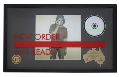 Lot 41 - NEW ORDER RIAA GOLD AWARD FOR GET READY