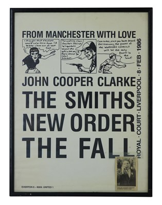 Lot 42 - NEW ORDER, THE SMITH & THE FALL 1986 POSTER