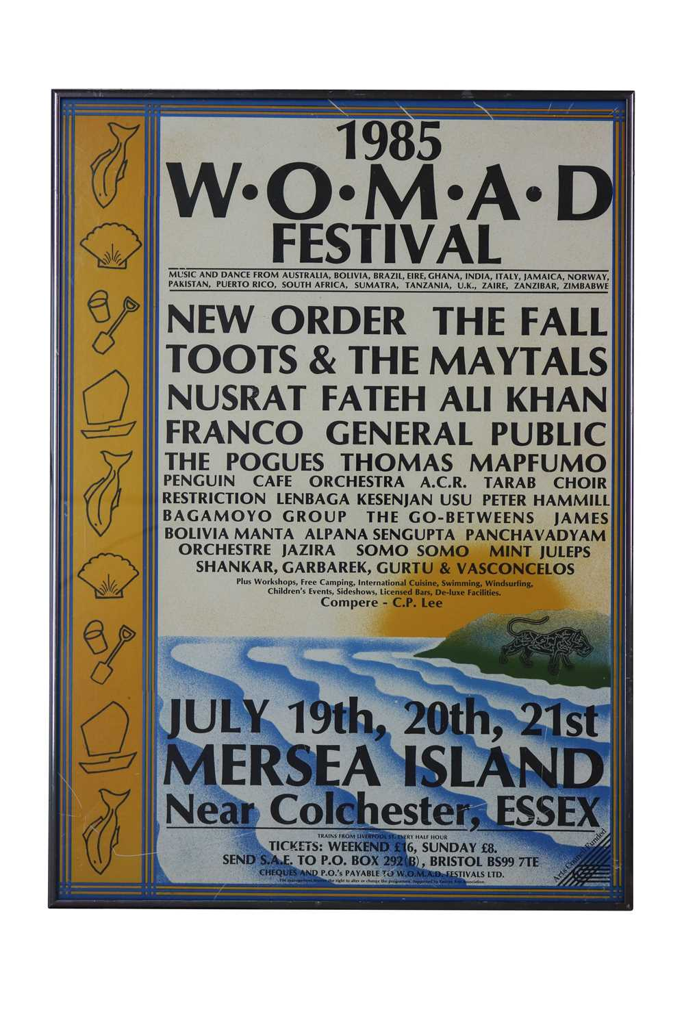 Lot 46 - NEW ORDER 1985 W.O.M.A.D. FESTIVAL POSTER