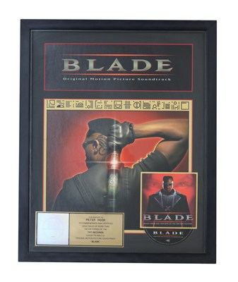 Lot 52 - NEW ORDER GOLD RIAA AWARD FOR BLADE SOUNDTRACK