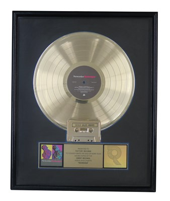 Lot 54 - NEW ORDER RIAA GOLD AWARD FOR TECHNIQUE