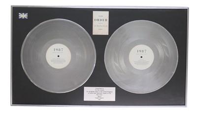 Lot 56 - NEW ORDER UK PLATINUM AWARD FOR SUBSTANCE LP