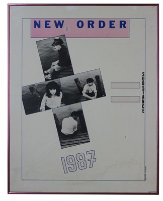 Lot 59 - NEW ORDER ORIGINAL 1987 'SUBSTANCE' POSTER