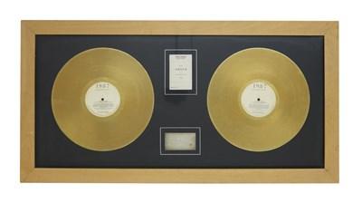 Lot 61 - NEW ORDER ITALIAN 'SUBSTANCE' GOLD DISC, 1989