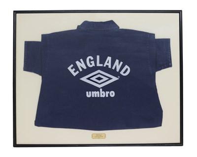 Lot 65 - NEW ORDER UMBRO/ENGLAND 'WORLD IN MOTION' PETER BEARDSLEY SHIRT