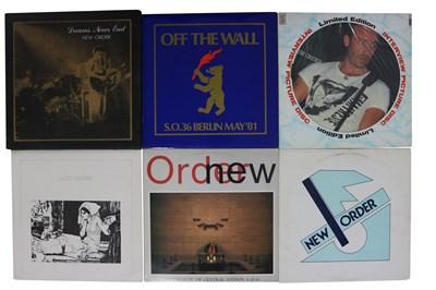 "Lot 73 - NEW ORDER BOOTLEG VINYL LPs & 7"""