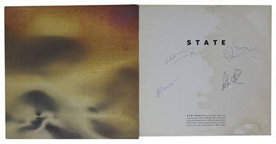 """Lot 78 - NEW ORDER SIGNED STATE OF THE NATION UK 12"""" SINGLE"""