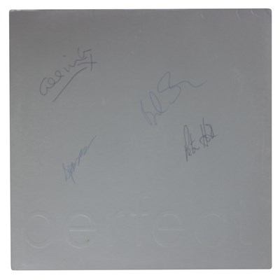 """Lot 81 - NEW ORDER SIGNED PERFECT KISS US 12"""" SLEEVE"""