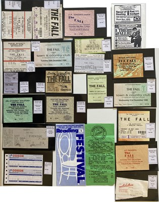 Lot 99 - THE FALL CONCERT TICKET ARCHIVE / FALL AND SMITHS FLYER.