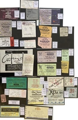 Lot 102 - PUNK, NEW WAVE AND INDIE CONCERT TICKET COLLECTION.