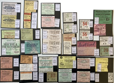 Lot 103 - SIOUXSIE AND THE BANSHEES CONCERT TICKET ARCHIVE.