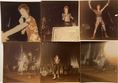 Lot 410 - DAVID BOWIE ZIGGY FAN TAKEN STAGE PHOTOGRAPHS