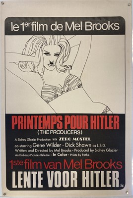 Lot 28 - BELGIAN FILM POSTER - MEL BROOKS' 'THE PRODUCERS'