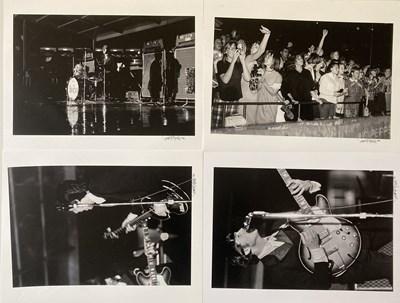Lot 173 - 49 HAND SIGNED BEATLES BUSCH STADIUM 1966 PHOTOGRAPHIC PRINTS.