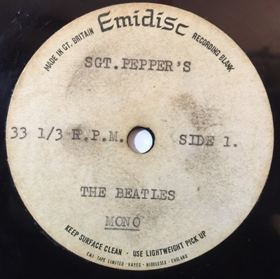Lot 94 - THE BEATLES - SGT PEPPER'S LONELY HEARTS CLUB BAND - ORIGINAL UK DOUBLE SIDED EMIDISC ACETATE LP
