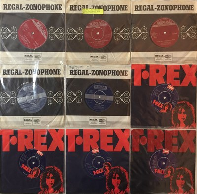 "Lot 839 - T REX/ MARC BOLAN/ DAVID BOWIE - 7"" COLLECTION"