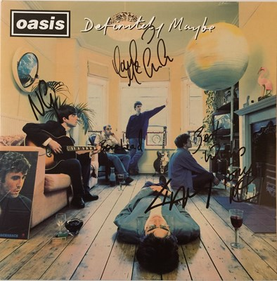 Lot 26-OASIS - DEFINITELY MAYBE - FULLY SIGNED ORIGINAL PRESSING LP (CREATION - CRELP 169)
