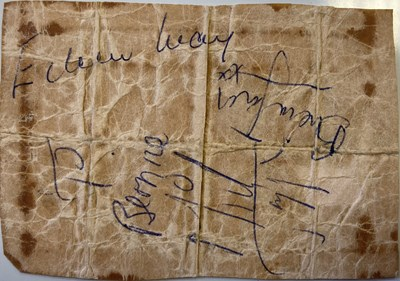 Lot 555 - ROLLING STONES - SIGNED PAGE