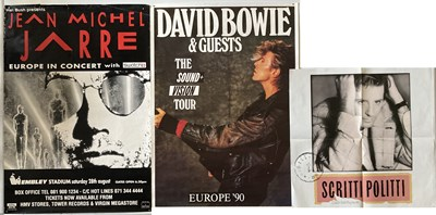 Lot 350 - ROCK AND POP POSTERS - BOWIE ETC.