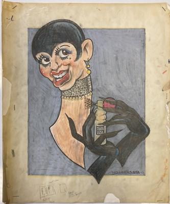 Lot 71 - BUSH HOLLYHEAD - LIZA MINELLI ORIGINAL ARTWORK.