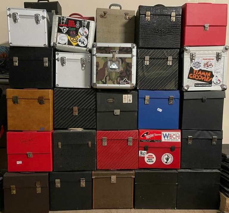 Lot 53 - RECORD CASE JOB LOT - LP SIZED - PROCEEDS TO CHARITY.