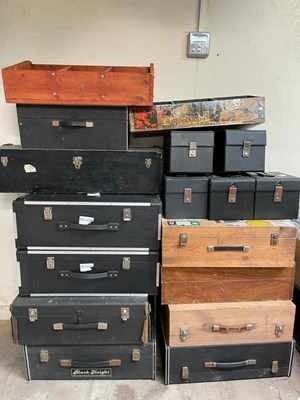 """Lot 55 - RECORD CASES JOB LOT - LARGER 7"""" CASES - PROCEEDS TO CHARITY."""