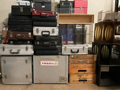 Lot 56 - ASSORTED VINYL CASES AND STORAGE.