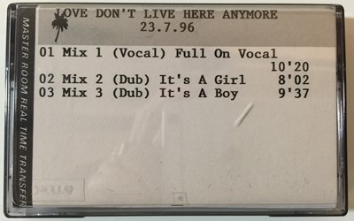 Lot 33-MADONNA - LOVE DON'T LIVE HERE ANYMORE (1996 DEMO CASSETTE RELEASE)
