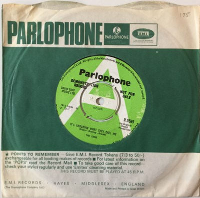 Lot 37-THE GAME - IT'S SHOCKING WHAT THEY CALL ME 7'' (ORIGINAL UK PARLOPHONE DEMO RELEASE - R 5569)