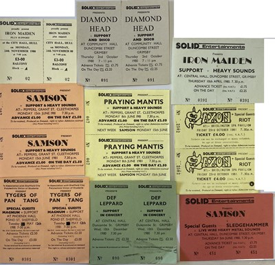 Lot 105 - NWOBHM TICKET ARCHIVE.