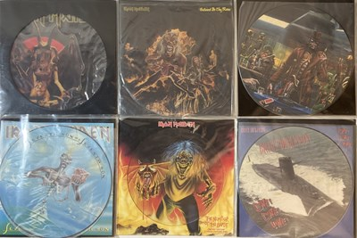 Lot 46-IRON MAIDEN & RELATED - PICTURE/SHAPED DISC RELEASES