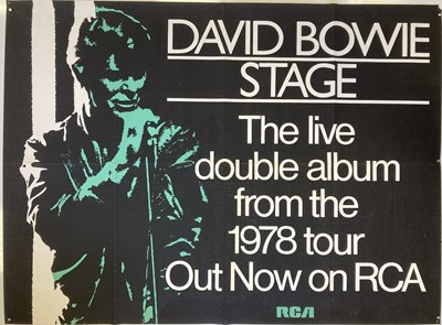 Lot 414 - DAVID BOWIE ORIGINAL STAGE POSTER.