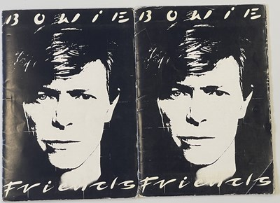 Lot 415 - DAVID BOWIE FRIENDS FOLDERS.