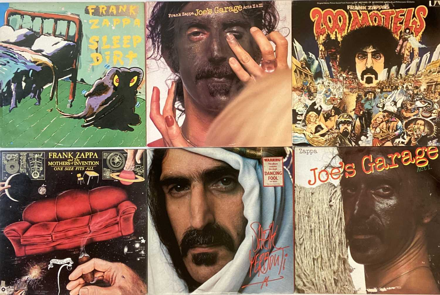 Lot 13 - FRANK ZAPPA/ THE MOTHERS - LPs
