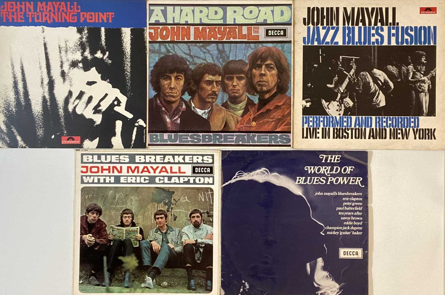 Lot 16 - JOHN MAYALL/ BLUESBREAKERS AND RELATED - LPs