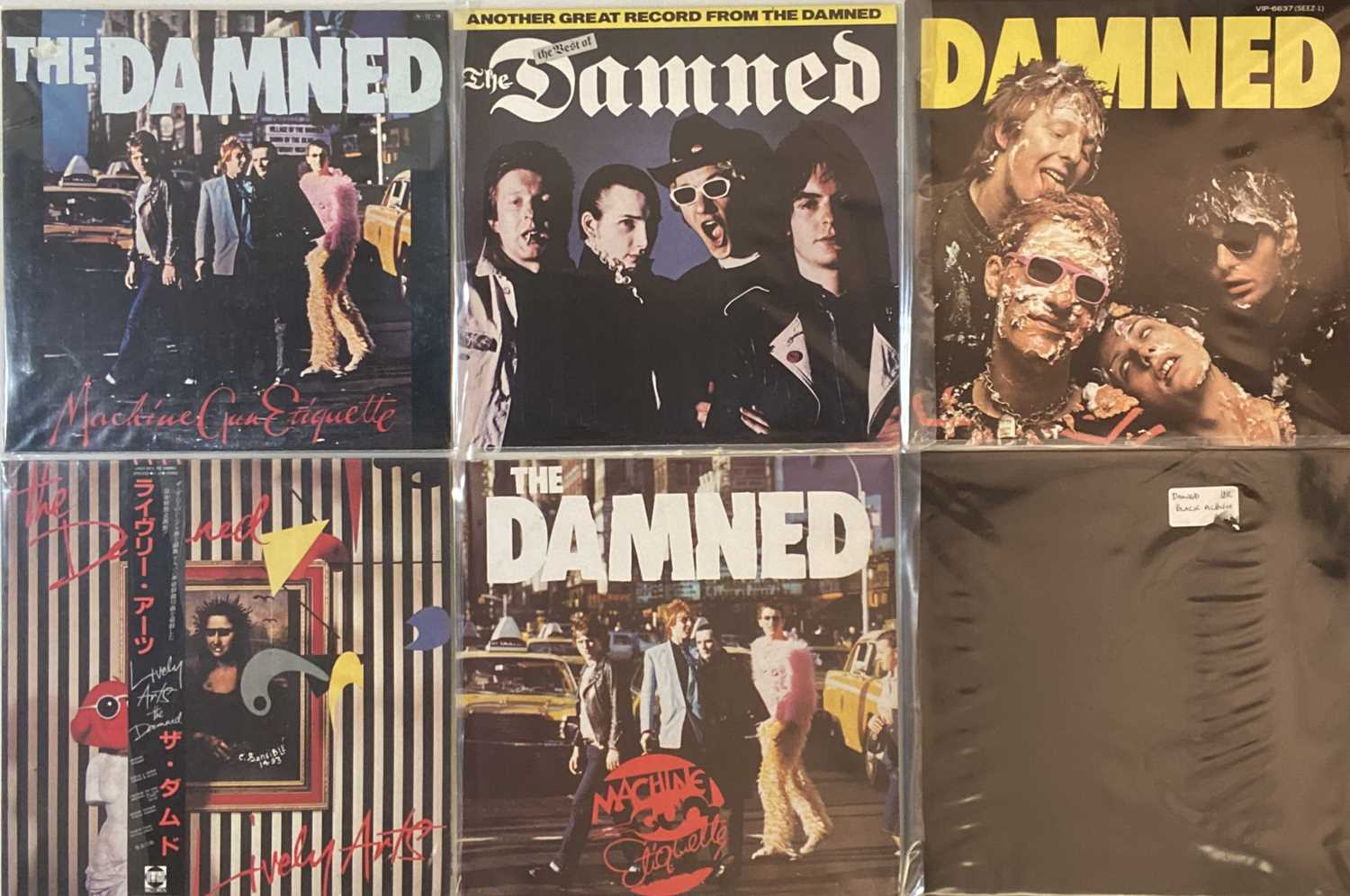 Lot 34 - THE DAMNED - JAPANESE LPs/ 12""