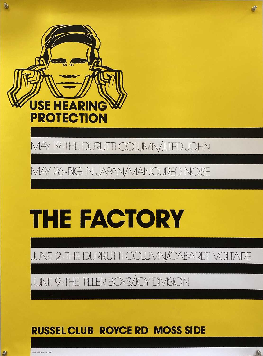 Lot 35 - PETER SAVILLE - LIMITED EDITION 'FAC 1' PRINT WITH SIGNED COA