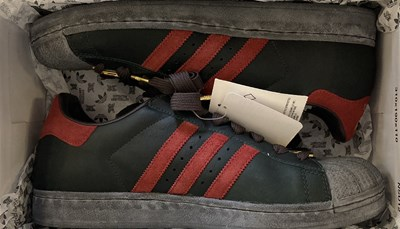 Lot 203 - IAN BROWN - ADIDAS SUPERSTAR 1 SHOES IN BOX.