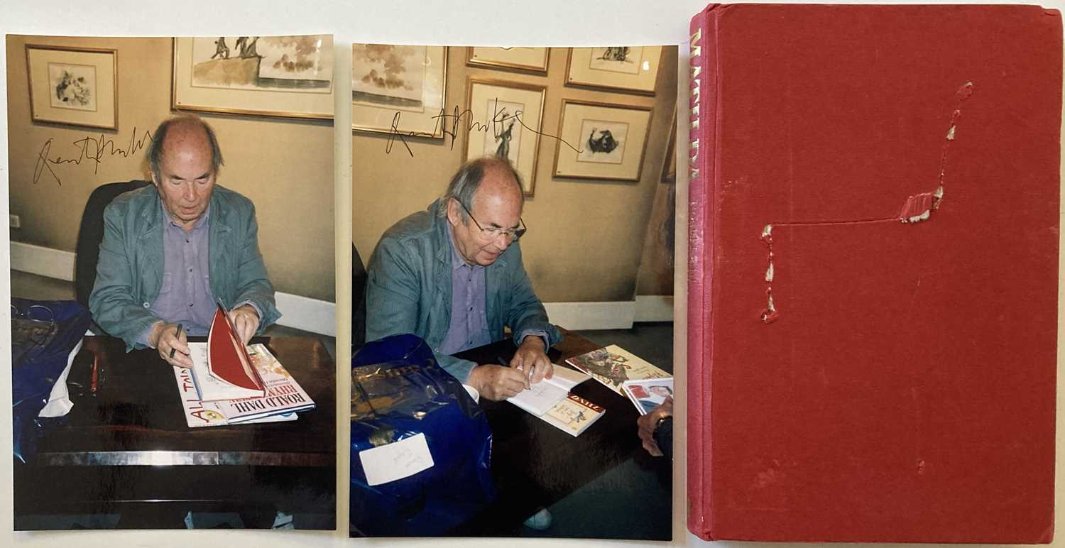 Lot 2 - ROALD DAHL MATILDA EARLY EDITION AND QUENTIN BLAKE SIGNED PHOTOS.