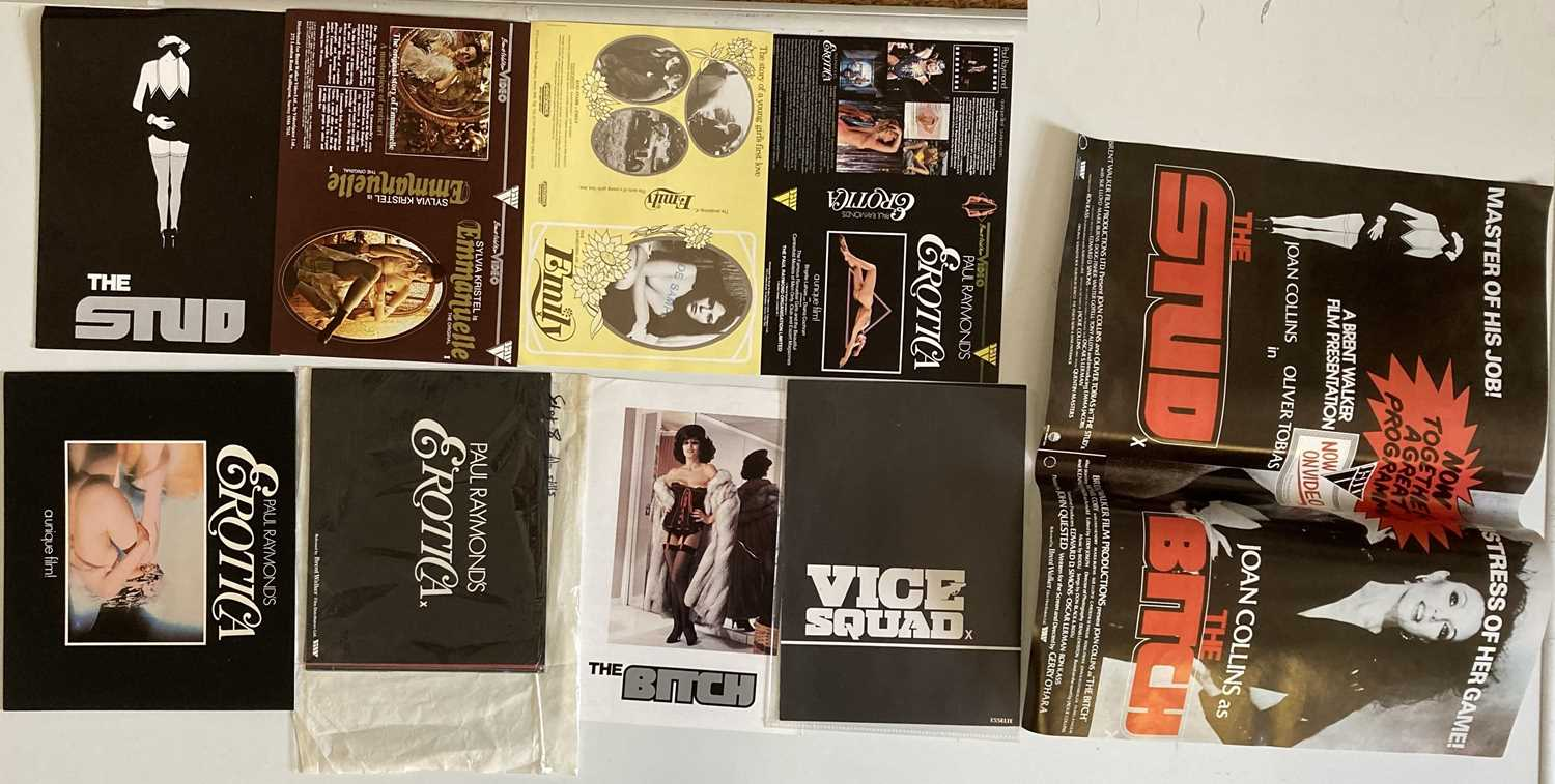 Lot 44 - BRENT WALKER ADULT FILMS - POSTERS AND PROMOTIONAL ITEMS.