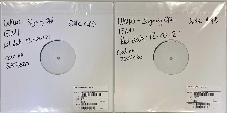 Lot 6 - UB40 - SIGNING OFF LP (2021 WHITE LABEL TEST PRESSING - UMG 3507580).
