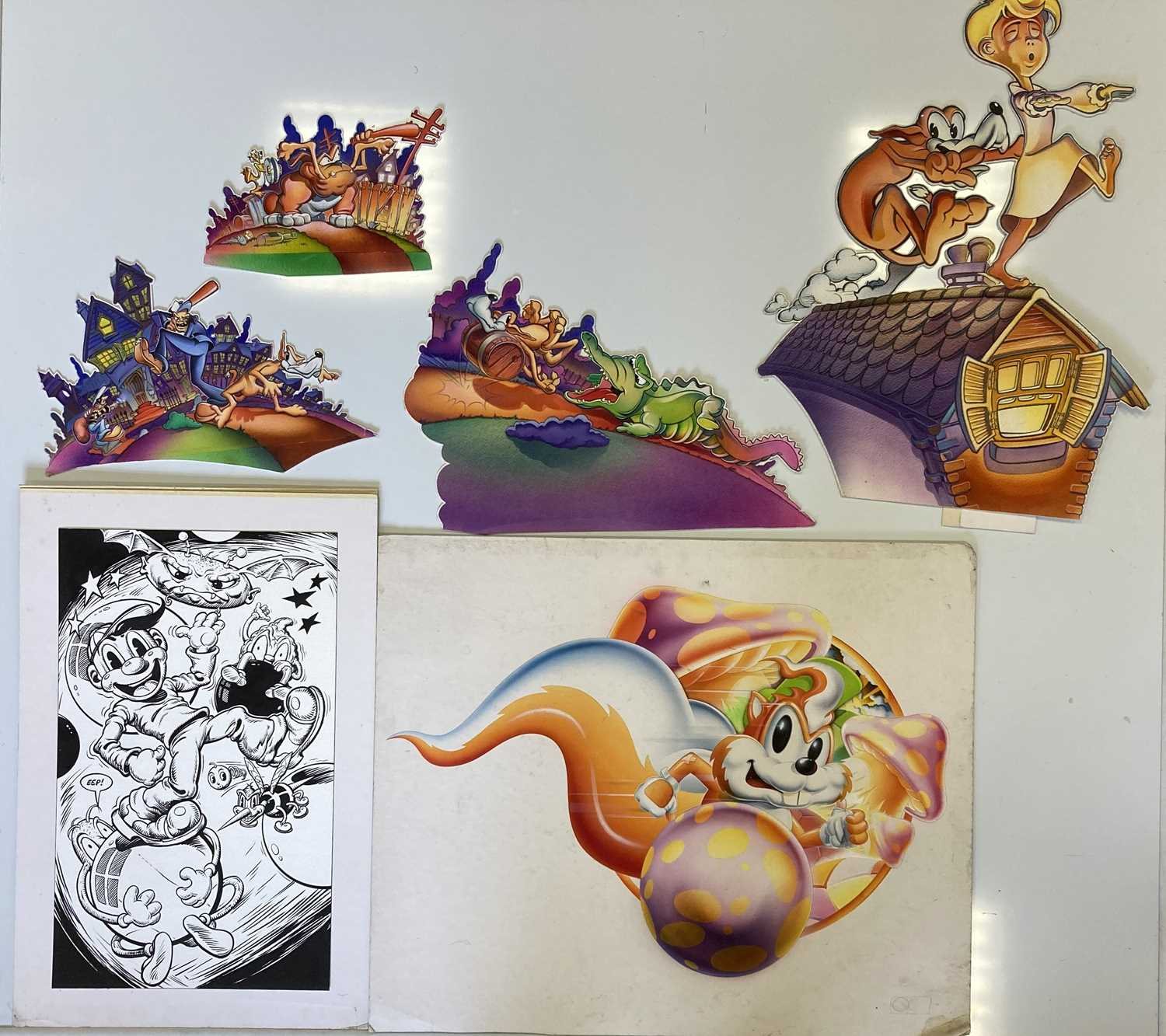 Lot 48 - GAMING - COMMODORE 64 CONCEPT ART.