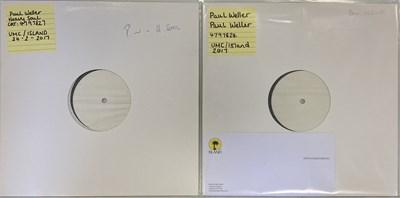 Lot 10 - PAUL WELLER - 2017 WHITE LABEL TEST PRESSING LPs (UMC/ISLAND)