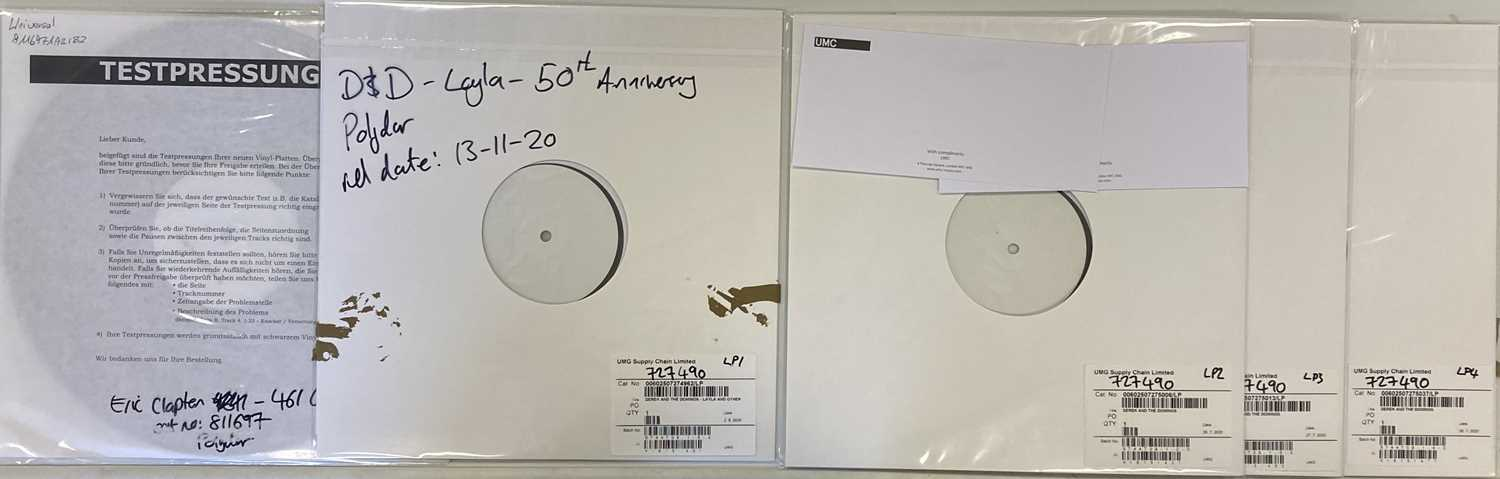 Lot 20 - DEREK & THE DOMINOES/ERIC CLAPTON - WHITE LABEL TEST PRESSING LPs