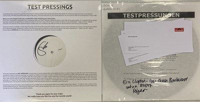 Lot 22 - ERIC CLAPTON - WHITE LABEL TEST PRESSING LPs INC ONE SIGNED