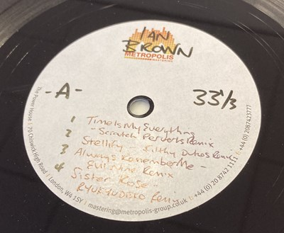 Lot 29 - IAN BROWN - 'COLLECTED' ACETATE LP (FICTION 2012 RELEASE)