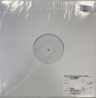 Lot 32 - KEVIN ROWLAND - MY BEAUTY LP (2020 WHITE LABEL TEST PRESSING)