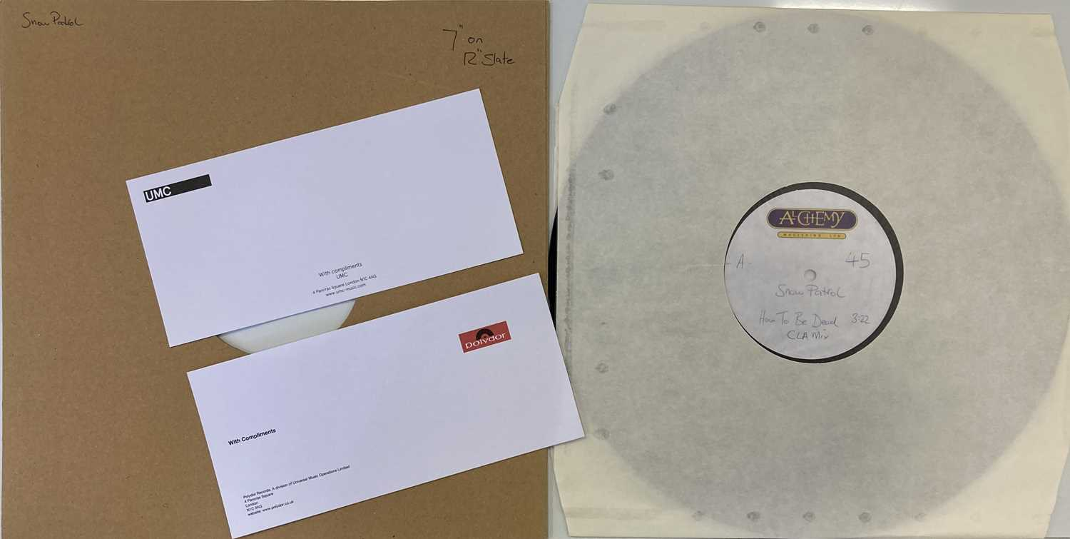 """Lot 36 - SNOW PATROL - HOW TO BE DEAD 7"""" (ACETATE RECORDING)"""