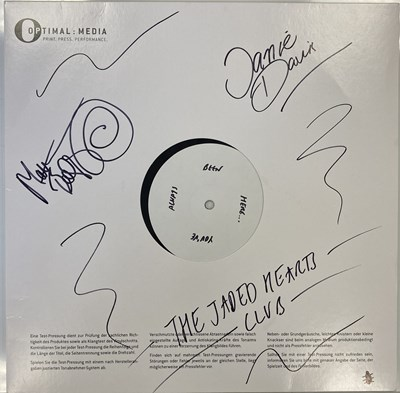 Lot 58 - THE JADED HEARTS CLUB - LIVE THE THE 100 CLUB LP (SIGNED 2020 WHITE LABEL TEST PRESSING)