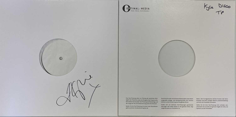 Lot 46 - KYLIE MINOGUE - DISCO LP (SIGNED WHITE LABEL TEST PRESSING)